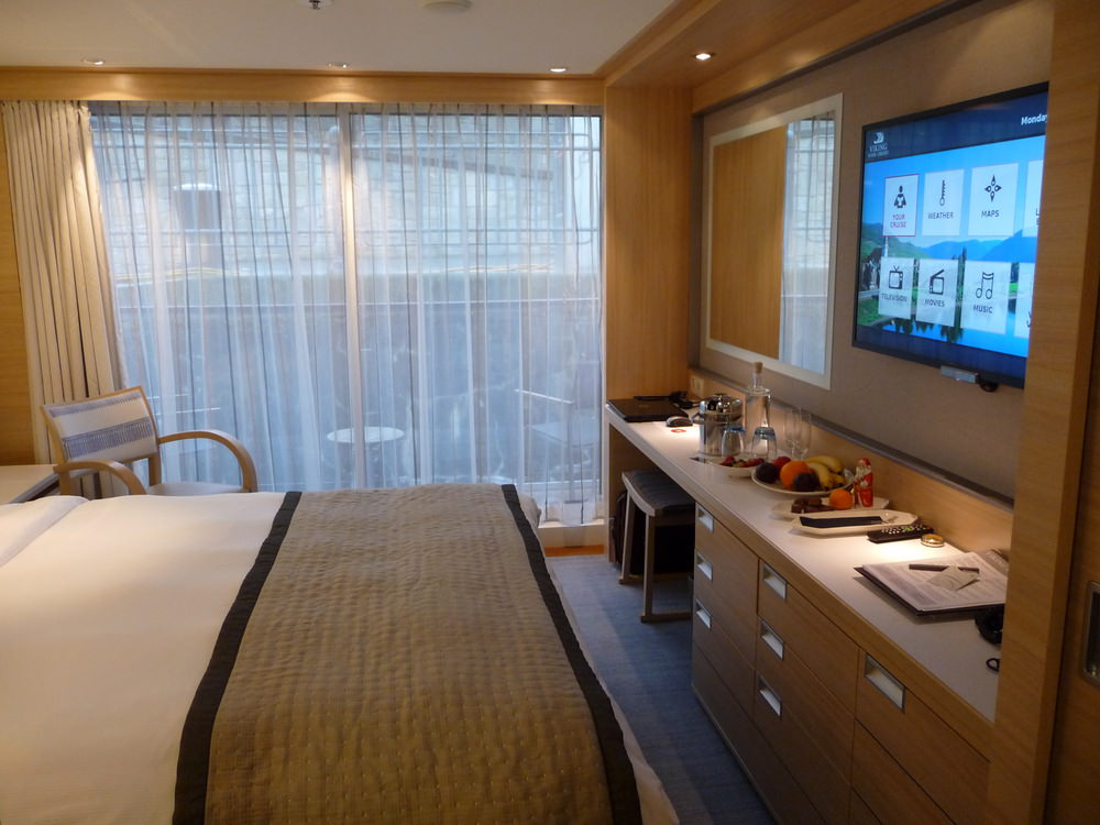 Our room on the Viking Baldur for our christmas market cruise