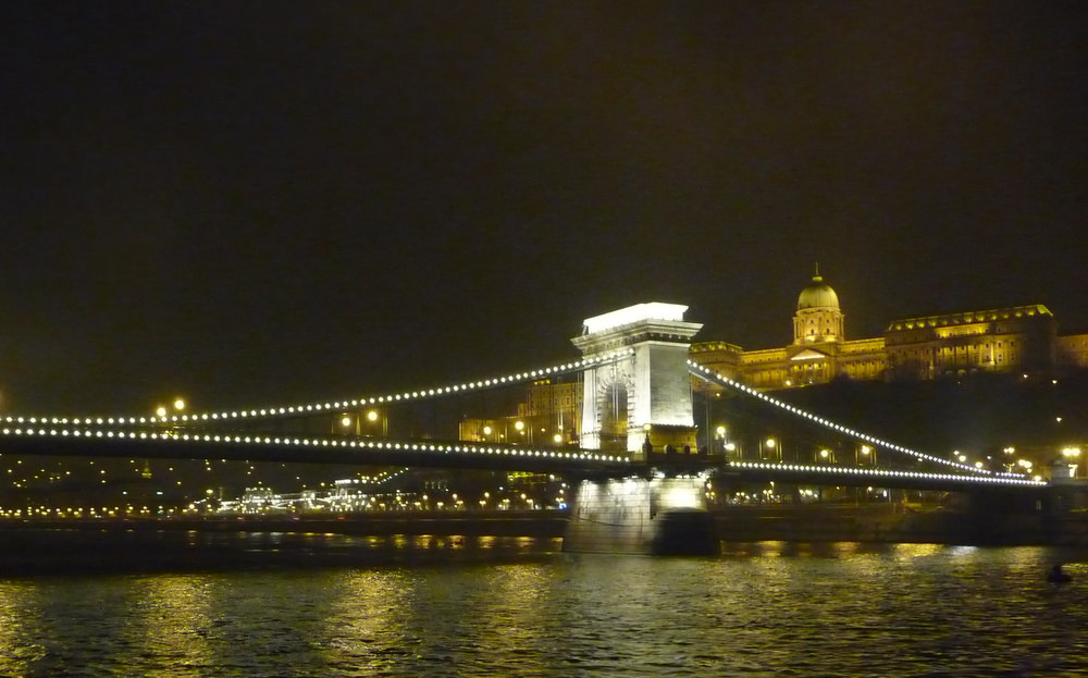 we saw the Chain Bridge with the Buda Castle in the background on our christmas market cruise