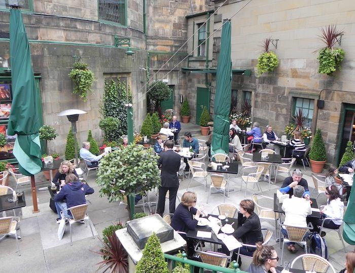 One of Rose Street's outdoor eateries