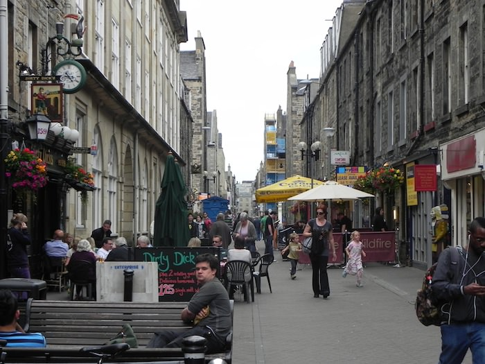 Rose Street is  a narrow concrete facade street with a pub every 80 metres or so.
