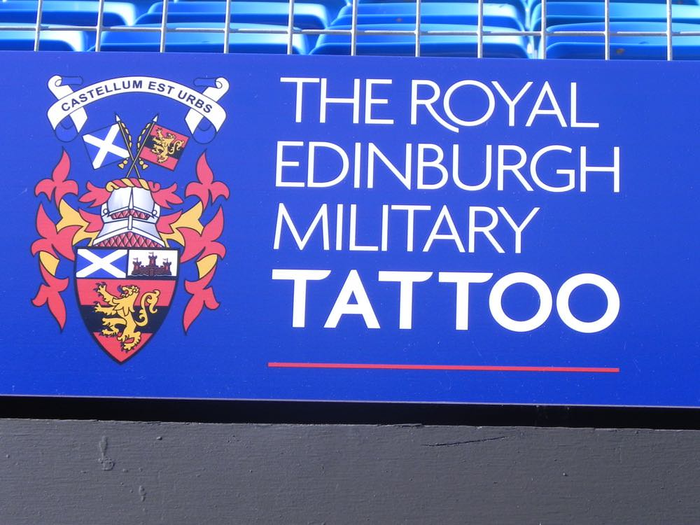Sign for the Royal Edinburgh Military Tattoo