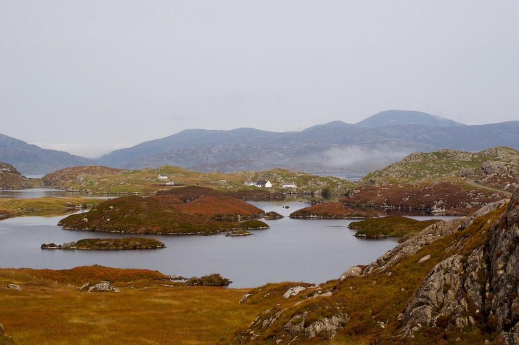 This view from the Golden Road shows the more advanced fall colors in the northern Western Isles in late-September.