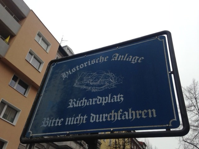 Welcome Sign to Richardplatz in Rixdorf