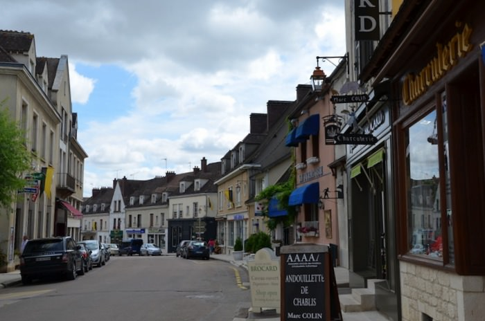 Chablis is a gorgeous place to stroll; plenty of tasting rooms, kitchen shops, garden stores and cafes