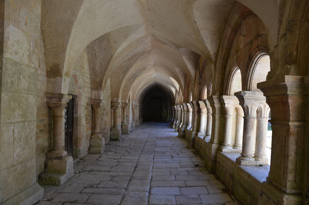 A walk through the restored Abbey of Fontenay, one of the finest surviving monasteries of Romanesque architecture, gave us a first hand idea of what monastic life entailed. This is the cloisters.