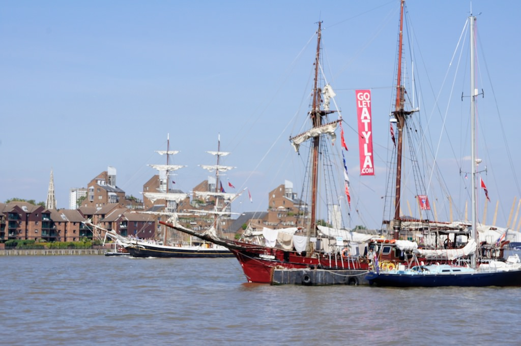 Ships at Greenwich during the 2014 Tall Ships Festival