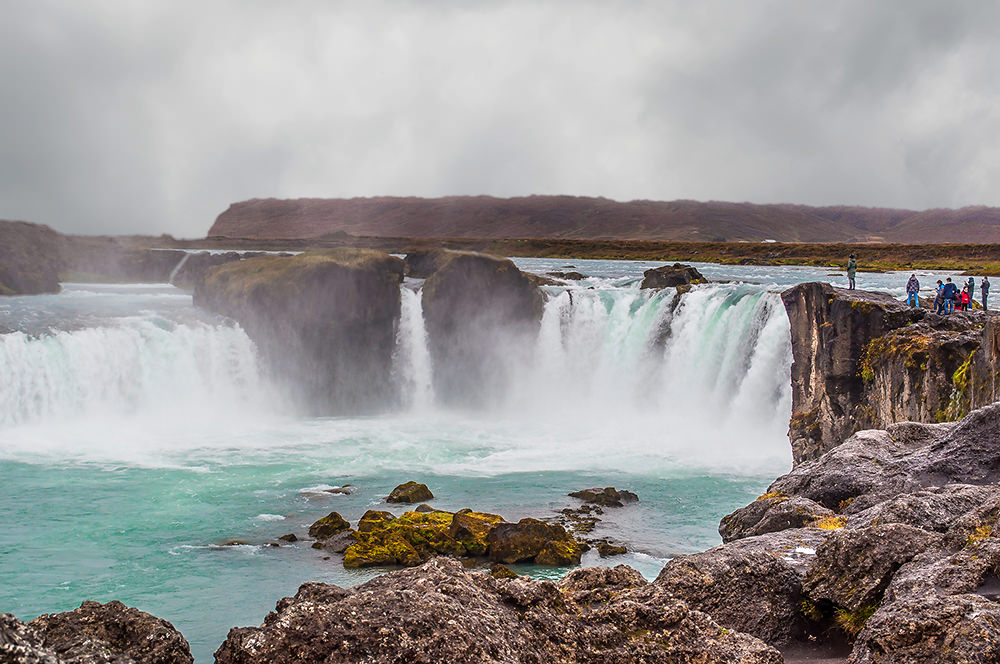At Godafoss, Iceland's Lawspeaker tossed his statues of old Norse gods into the river in 999CE after the nation converted to Christianity. Godafoss means Waterfall of the Gods