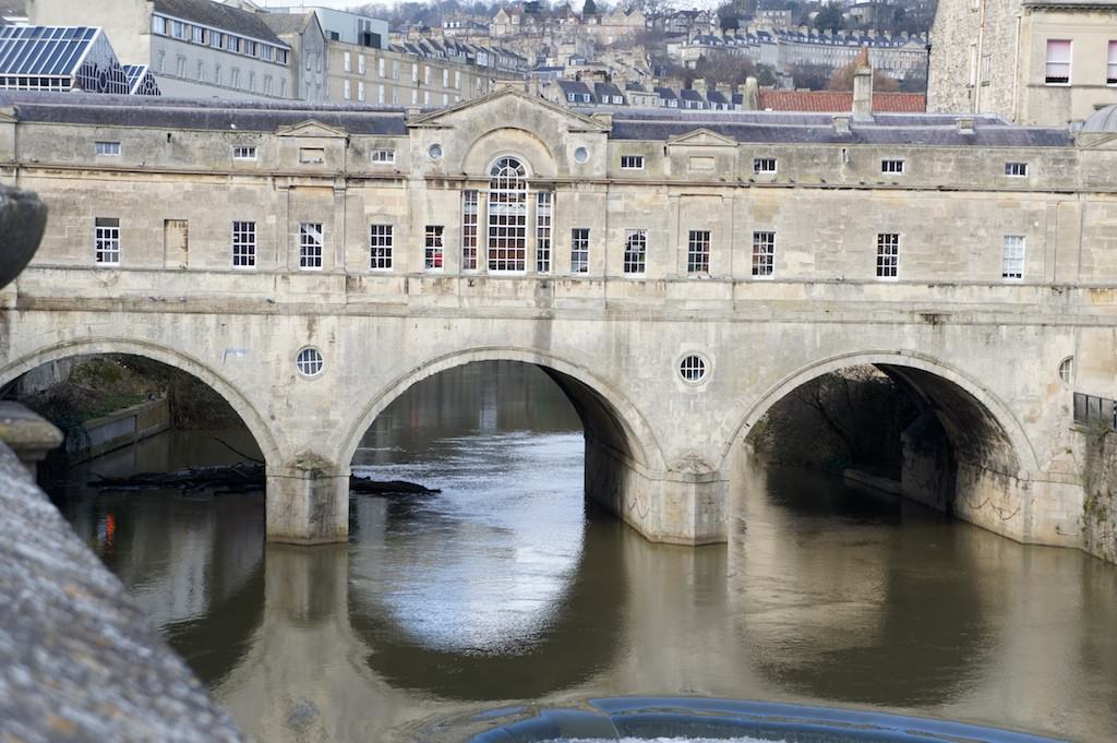 The Pulteney Bridge, modelled on the Ponte Vecchio in Florence