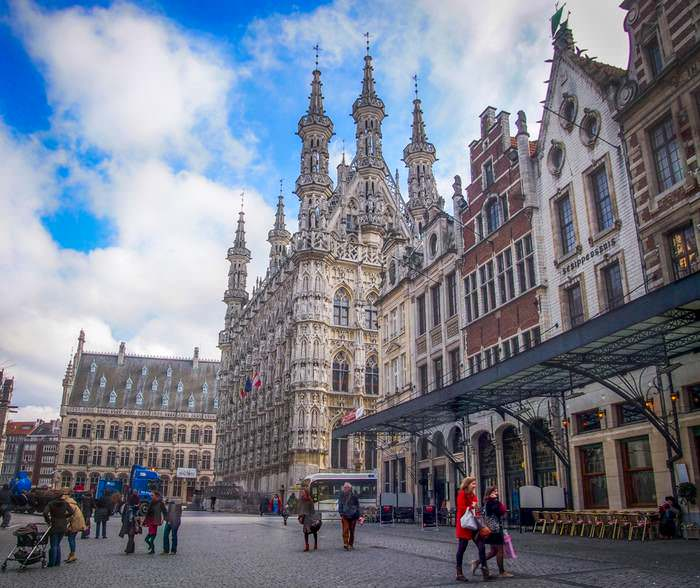 The Town Hall of Leuven is the focal point of the Great Market Square