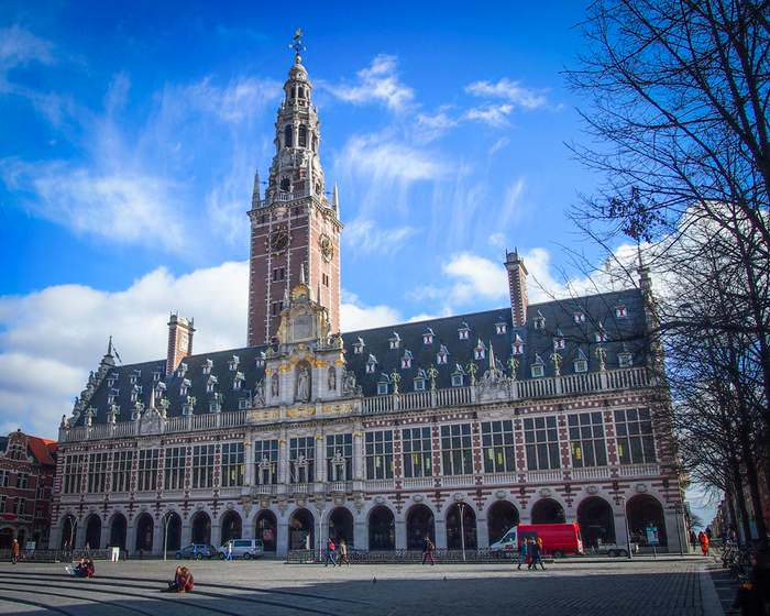 The University Library in Leuven, one of Europe's most beautiful libraries