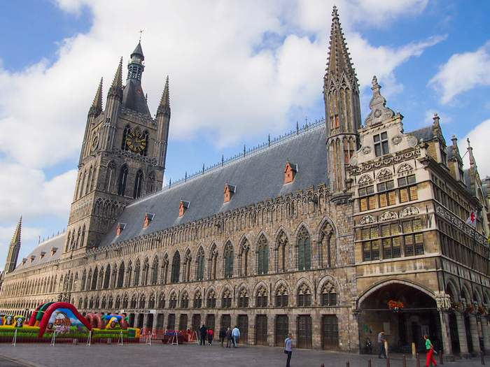 Ypres' enormous cloth hall had to be reconstructed after World War I