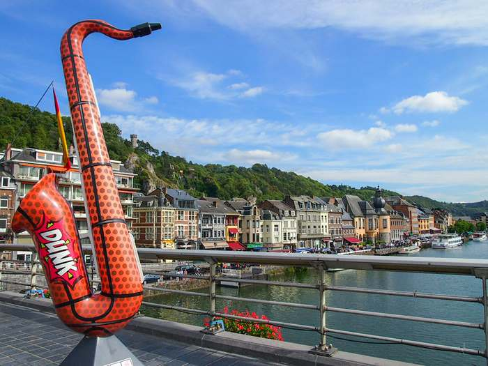 Saxophone statues are found all over Dinant