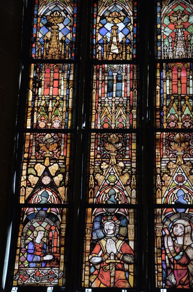 Stained glass window in the Augustinerkirche inErfurt