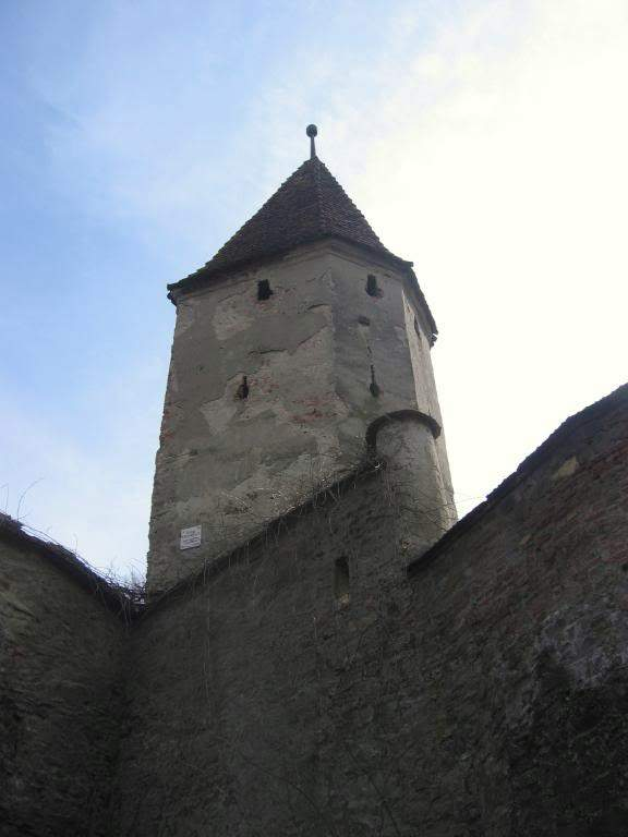 The Butchers' Tower is plain but powerful-looking
