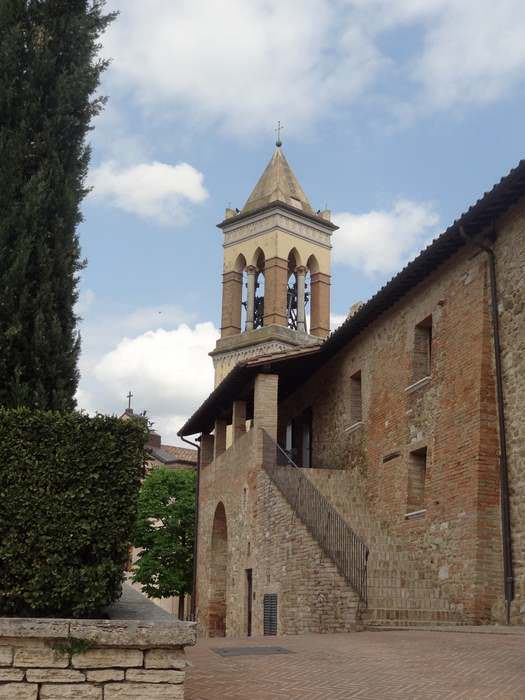 Solomeo's main church and spotless streets
