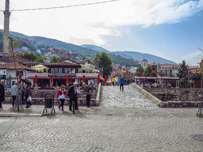 Old Stone Bridge in Prizren, Kosovo