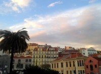 sunset over Alfama