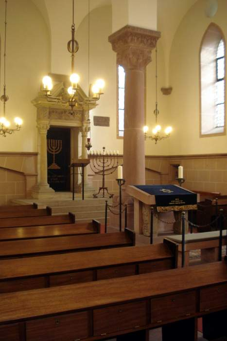 Jewish Synagogue in Worms interior