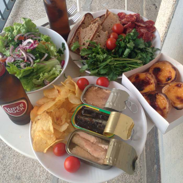 canned fish and vegetables