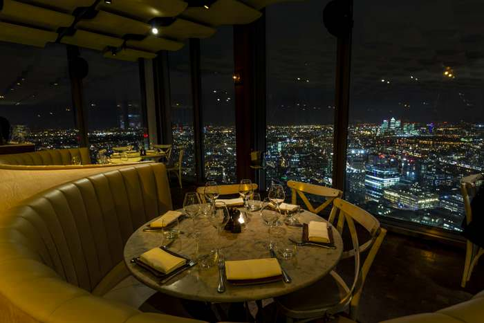 The upscale Duck and Waffle in London