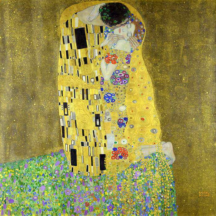 The Kiss painting by Klimt