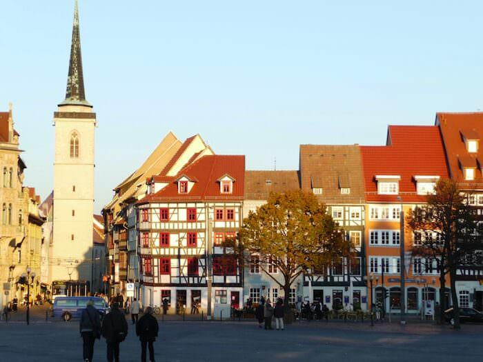 Erfurt, Germany has a plethora of Half-timbered homes