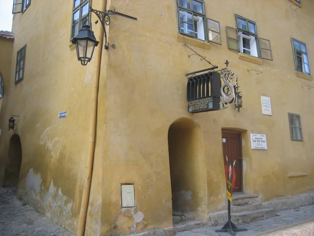 Dracula's birthplace in Sighisoara