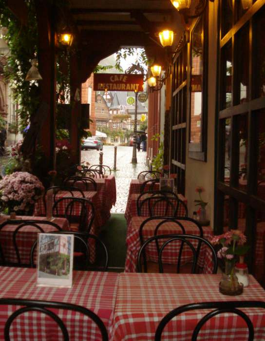 cafe in Bacharach, Germany