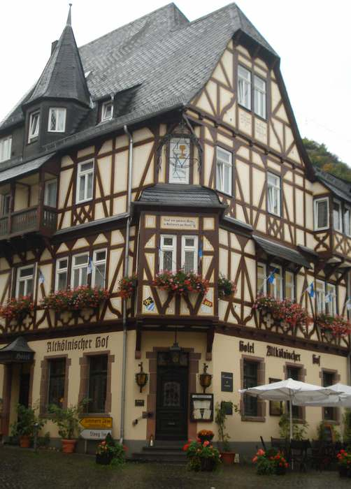 Half-timbered building in Bacharach, Germany