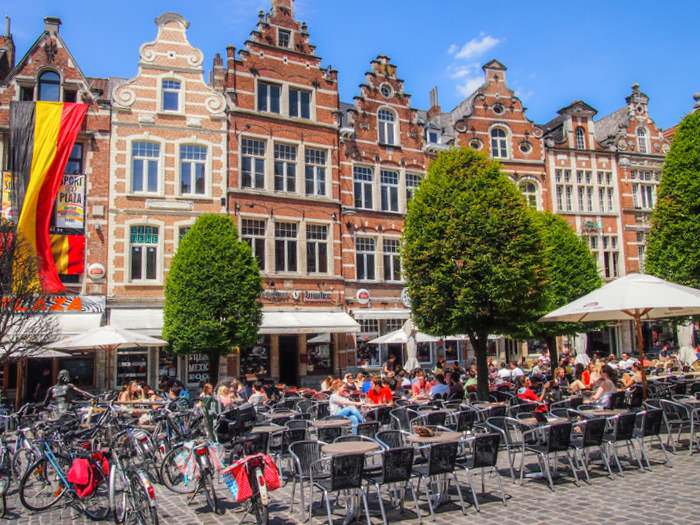 Old Market Square in Leuven