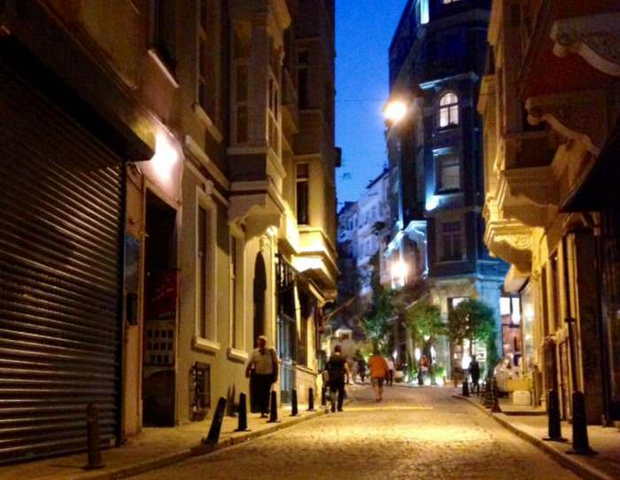 The streets of Changir in the Beyoglu district