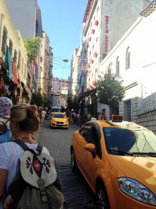 The busy Galata area of Beyoglu, Istanbul
