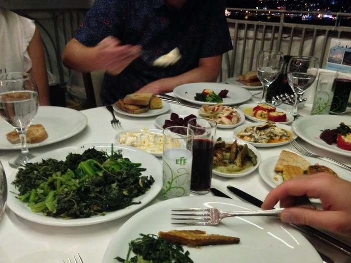 Mezze and Raki at Sur Balik restaurant