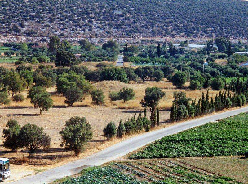 The mound of the Plateans in Marathon, Greece
