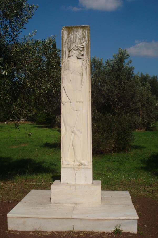 Monument to the Dead in Marathon, Greece