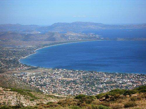 A view of Marathon, Greece from Pendeli