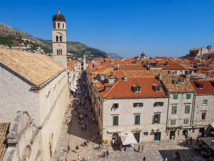 Stradun seen from the City Walls of Dubrovnik