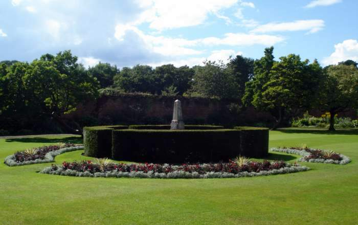 The garden at Tredegar House