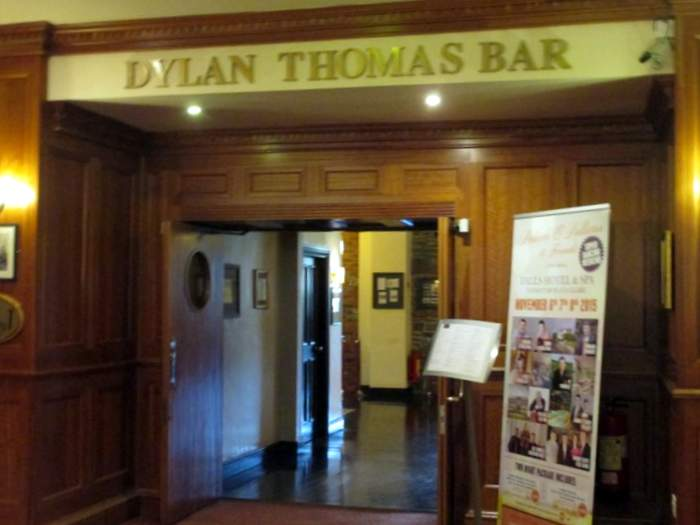 Dylan Thomas Bar at the Falls Hotel one of the best hotels in Ireland