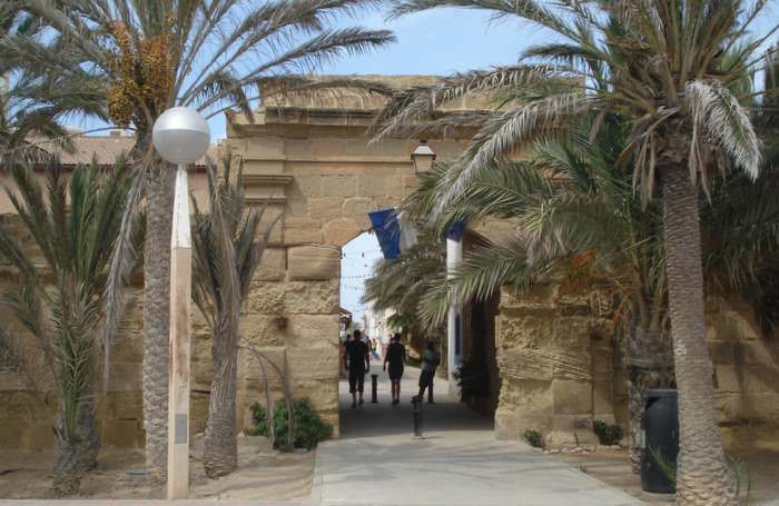 Old town gate in Tabarca