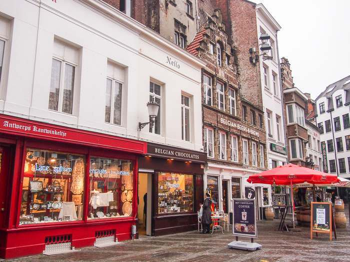 Lace, Chocolate and Beer shops in Antwerp