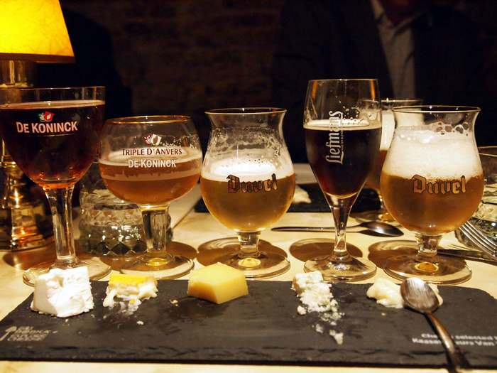 Beer and cheese matching in Antwerp, Belgium a Benelux country