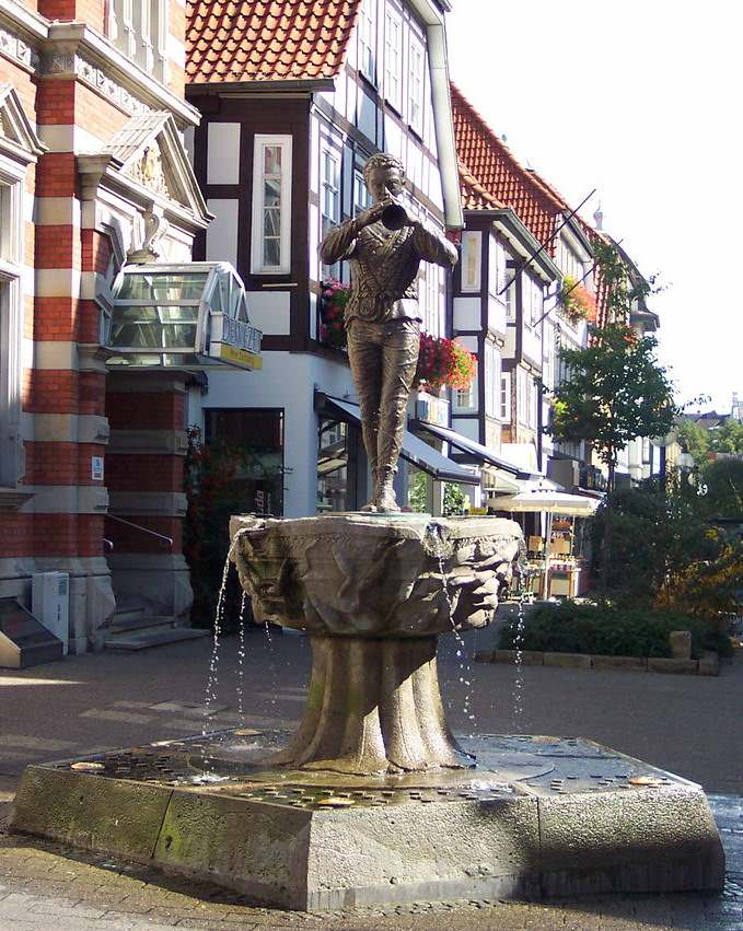 A fountain in Hamelin one of Germany's fairy tale cities