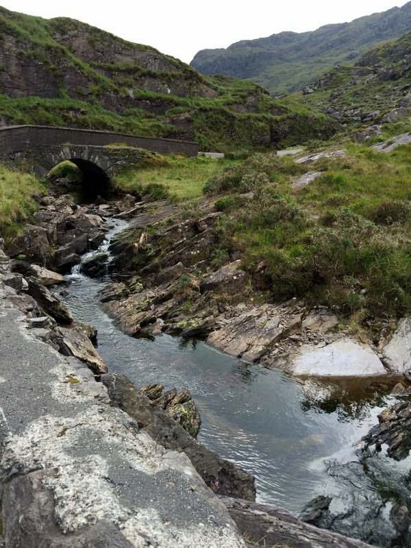 Streams and bridges by the road in the Gap of Dunloe