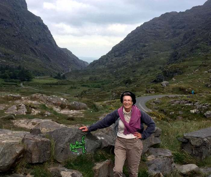 The author hiking the Gap of Dunloe