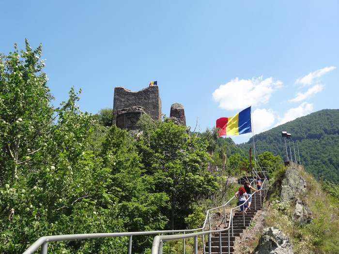 The final part of the climb to Poenari Castle before arriving at the gates of the citadel