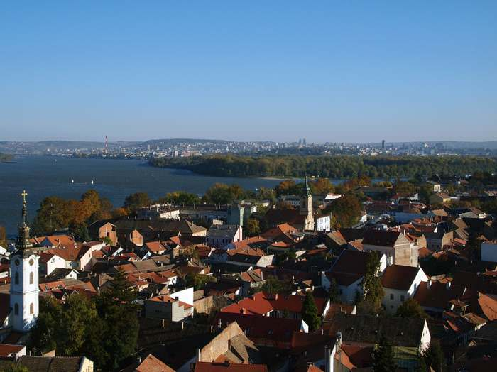 Zemun with a view toward Belgrade