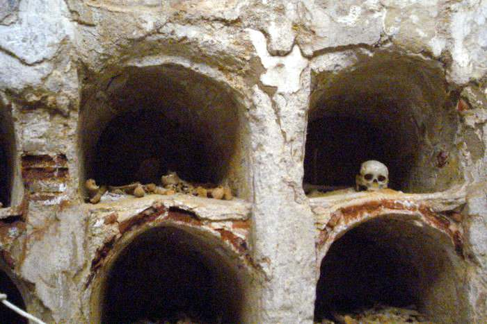 Bones in the Roman Crypt in Cartagena