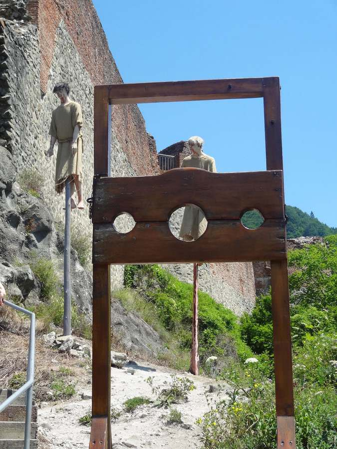 Reminders that you are visiting Poenari Castle of Vlad the Impaler