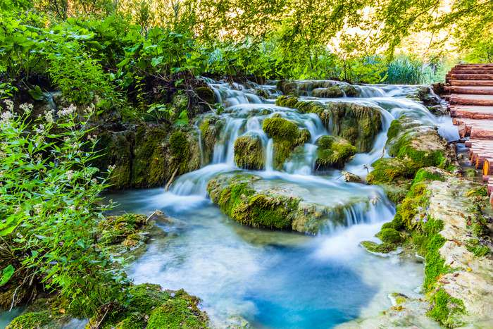 Plitvice lakes National Park in Croatia is one of Europe's Unique Sights